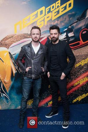 Aaron Paul and Dominic Cooper - Need for Speed Fan Screening held at the Odeon Leicester Square - Arrivals. -...