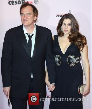 Quentin Tarantino and Courtney Hoffman - 39th Cesar Film Awards - Arrivals - Paris, France - Friday 28th February 2014