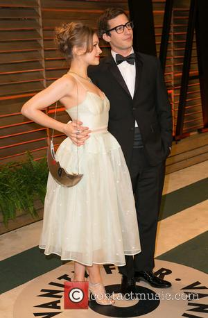 Andy Samberg and Joanna Newsom - Celebrities attend 2013 Vanity Fair Oscar Party at Sunset Plaza. - Los Angeles, California,...