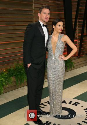 Channing Tatum and Jenna Dewan - Vanity Fair Oscar Party - Arrivals - Los Angeles, California, United States - Sunday...