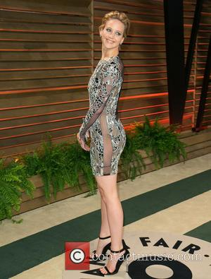 Jennifer Lawrence - 2014 Vanity Fair Oscar Party held at Sunset Tower in West Hollywood - Arrivals - Los Angeles,...