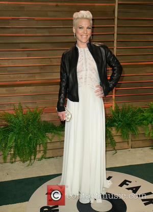 Pink - Celebrities attend 2014 Vanity Fair Oscar Party at Sunset Plaza. - Los Angeles, California, United States - Sunday...