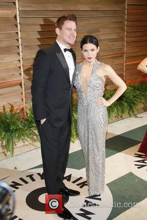 Channing Tatum and Jenna Dewan - Celebrities attend 2014 Vanity Fair Oscar Party at Sunset Plaza. - Los Angeles, United...