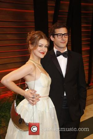 Joanna Newsom and Andy Samberg - Celebrities attend 2014 Vanity Fair Oscar Party at Sunset Plaza. - Los Angeles, United...