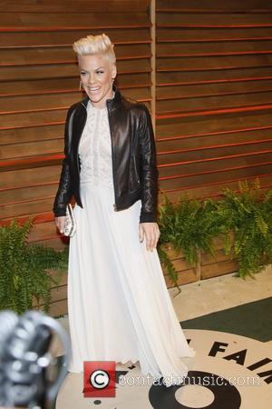 Pink - Celebrities attend 2014 Vanity Fair Oscar Party at Sunset Plaza. - Los Angeles, United States - Sunday 2nd...