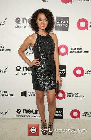 Nathalie Emmanuel - Elton John AIDS Foundation Oscar Party Arrivals at the Pacific Design Center in West Hollywood, California. -...