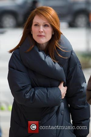 Julianne Moore - Julianne Moore on the set of 'Still Alice' - New York City, New York, United States -...