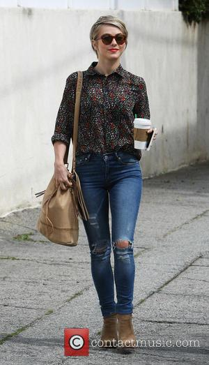 Julianne Hough - Julianne Hough in good spirits as she grabs a Starbucks coffee to-go - Los Angeles, California, United...