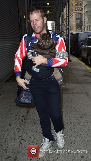 Perez Hilton and Mario Armando Lavandeira III - Perez Hilton and son Mario arrive for the Wendy Williams show in...