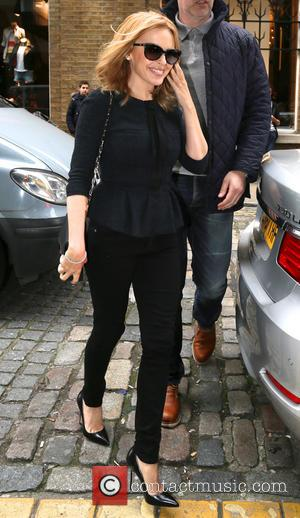 Kylie Minogue - Kylie Minogue arrives at the Facebook London office - London, United Kingdom - Tuesday 11th March 2014
