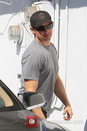 Jeremy Renner - Jeremy Renner seen arriving at a gym in West Hollywood. - Los Angeles, California, United States -...