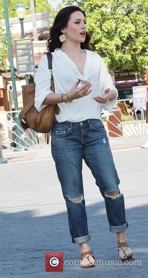 Sharna Burgess - Celebrities appear on 'Extra' at Universal Studios - Los Angeles, California, United States - Thursday 13th March...