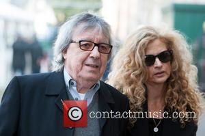 Bill Wyman and Guest - David Frost - memorial unveiling and service of remembrance held at Westminster Abbey - Arrivals....