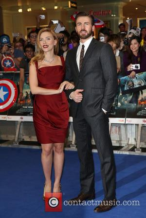Scarlett Johansson and Chris Pine - Captain America: The Winter Soldier - UK film premiere held at Westfield - Arrivals...