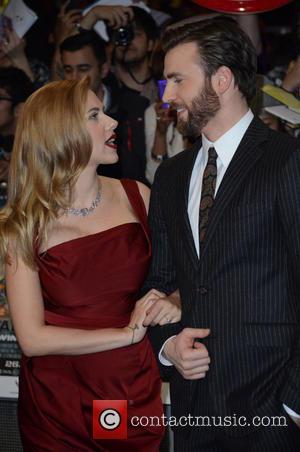 Scarlett Johansson and Chris Evans - 'Captain America: The Winter Soldier' UK Premiere at Westfield - Arrivals - London, United...
