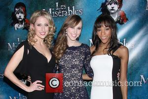 Caissie Levy, Samantha Hill and Nikki M. James - Opening Night After Party for Broadway's Les Miserables at the Imperial...