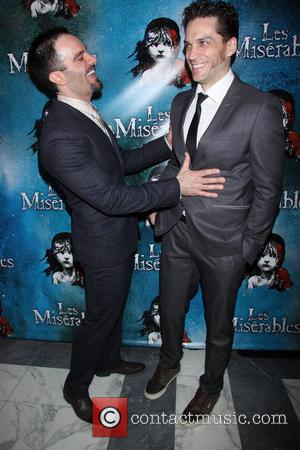 Ramin Karimloo and Will Swenson - Opening Night After Party for Broadway's Les Miserables at the Imperial Theatre - Arrivals....