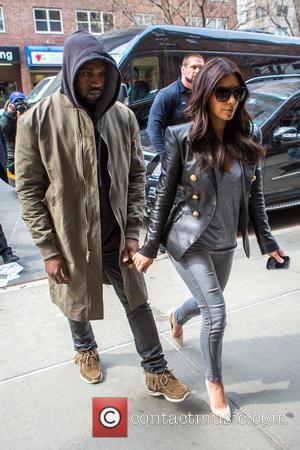 Kim Kardashian and Kanye West - Kim Kardashian and Kanye West arriving at the Greenwich Hotel - New York City,...