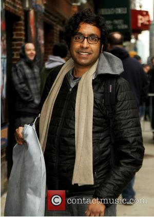 Hari Kondabolu - Celebrities outside the Ed Sullivan Theater as they arrive for the Late Show with David Letterman -...