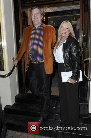 Stephen Fry and Pamela Stephenson - Press Night for 'Fatal Attraction' at the Theatre Royal - Arrivals - London, United...