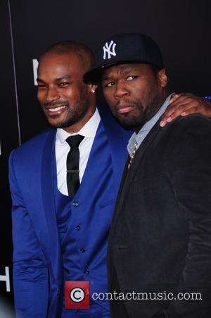 Tyson Beckford and 50 Cent - Noah premiere at Ziegfeld theater - NY, New York, United States - Thursday 27th...