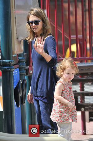 Jessica Alba and Haven Warren - Jessica Alba heads to the park with her family and runs into Jaime king...