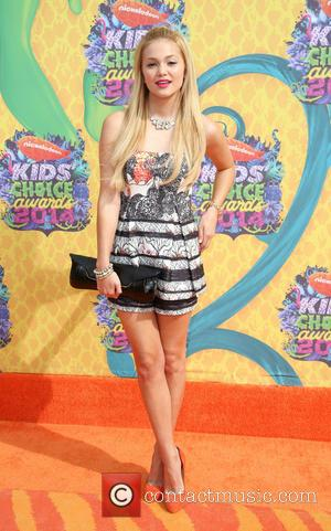 Olivia Holt - Nickelodeon Kids' Choice Awards 2014 held at USC's Galen Center - Arrivals - Los Angeles, California, United...
