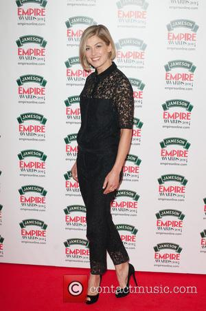 Rosamund Pike - Jameson Empire Awards 2014 held at The Grosvenor House - Arrivals. - London, United Kingdom - Sunday...