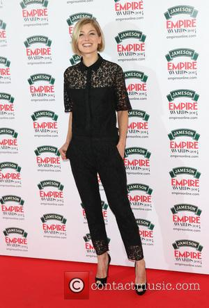 Rosamund Pike - The Jameson Empire Awards 2014 held at Grosvenor House - Arrivals - London, United Kingdom - Sunday...