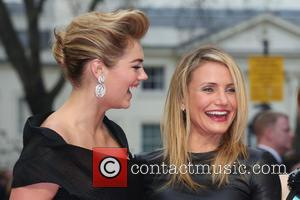 Cameron Diaz and Kate Upton - UK gala screening of 'The Other Woman' - Arrivals - London, United Kingdom -...