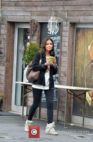 Helen Flanagan - Helen Flanagan out and about in Alderley Edge. Helen seen drinking a health shake. - Cheshire, United...