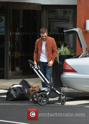 Jamie Dornan - The day after The IFTA awards, actors are seen coming and going from the DoubleTree by Hilton...