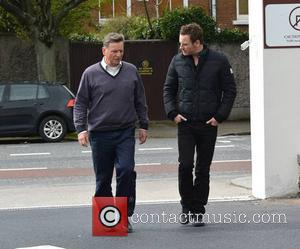 Michael Fassbender & father Josef Fassbender - The day after The IFTA awards, actors are seen coming and going from...