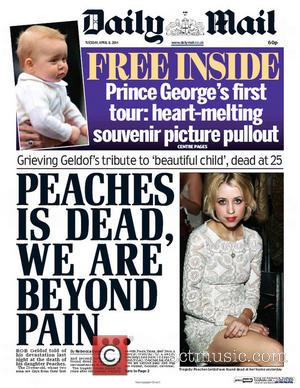 Peaches Geldof and Daily Mail