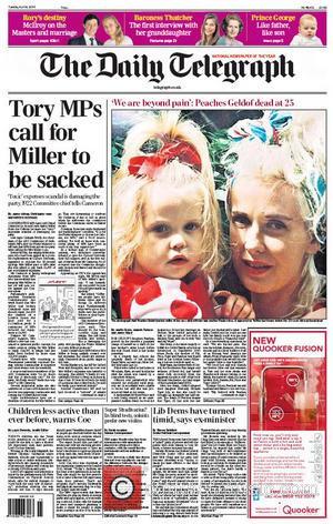 Peaches Geldof and The Daily Telegraph