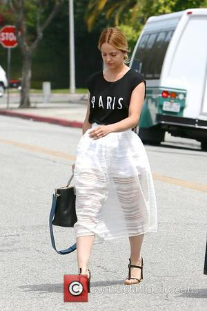 Mena Suvari - Mena Suvari and Salvador Sanchez seen leaving an office building  in Beverly Hills - Los Angeles,...