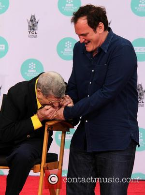 Jerry Lewis and Quentin Tarantino - Jerry Lewis' Hand and Footprint Ceremony at TCL Chinese Theatre IMAX - Los Angeles,...