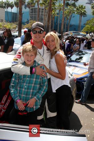 Cole Hauser, Son and Cynthia Daniel