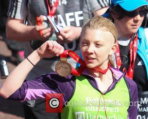 Natalie Dormer - Athletes, celebrities wheelchair users and fun runners complete the Virgin Money London Marathon on the Mall -...