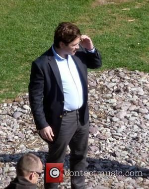 Colin Farrell - Colin Farrell & John C Reilly film scenes on the Giorgos Lanthimos movie 'The Lobster' shooting in...