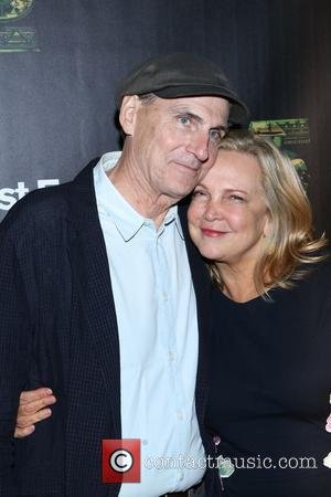 Kim Smedvig and James Taylor - the 25th Anniversary Rainforest Fund Benefit at Mandarin Oriental Hotel on April 17, 2014...