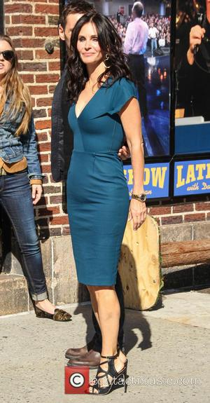 Courteney Cox - Courteney Cox arrives at the Ed Sullivan Theater for 'The Late Show With David Letterman' - New...