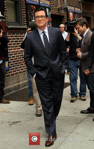 Stephen Colbert - Celebrities outside the Ed Sullivan Theater for their taping on the Late Show with David Letterman -...