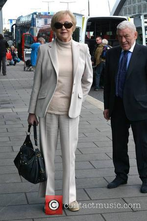 Marian Finucane and John Clarke - Paul Simon at Dublin Airport event hosted by Marian Finucane where he unveiled the...