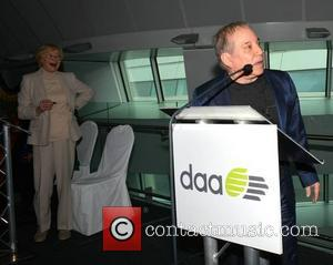 Marian Finucane and Paul Simon - Paul Simon at Dublin Airport event hosted by Marian Finucane where he unveiled the...