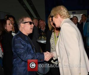 Paul Simon and Marian Finucane - Paul Simon at Dublin Airport event hosted by Marian Finucane where he unveiled the...