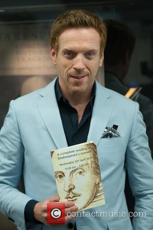 Damian Lewis - Actor Damian Lewis poses for photographers during Guildhall Library's Complete Reading of Shakespeare's Sonnets. - London, United...