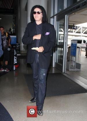 Gene Simmons - Gene Simmons arrives at Los Angeles International Airport (LAX) - Los Angeles, California, United States - Friday...