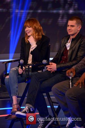 Emma Stone and Andrew Garfield - The Cast of 'The Amazing Spider-Man 2' Visit BET's
