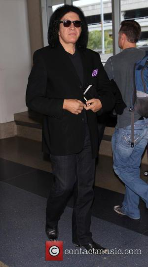 Gene Simmons - Gene Simmons arrives at Los Angeles International (LAX) airport - Los Angeles, California, United States - Friday...